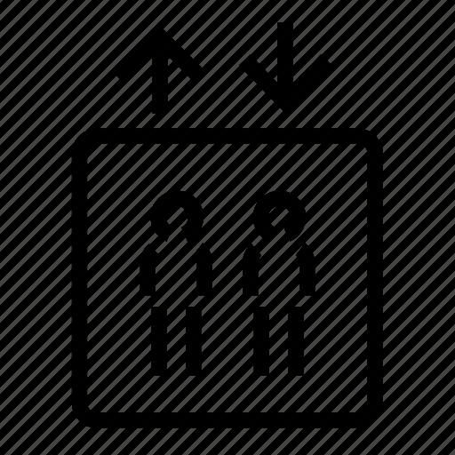 lift, passenger icon