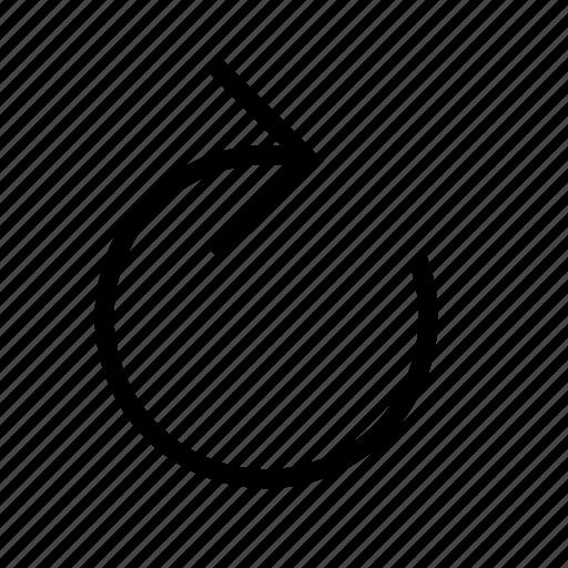action, arrow, redo icon