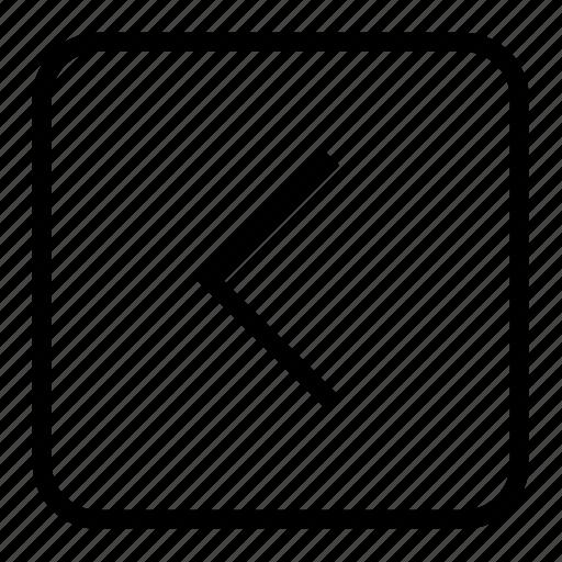 back, backward, previous icon