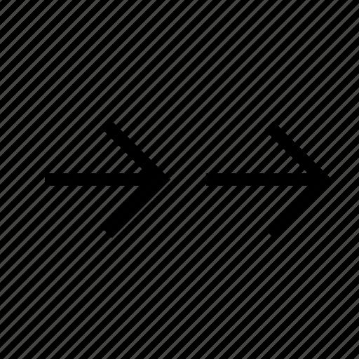 arrow, consistently, play icon