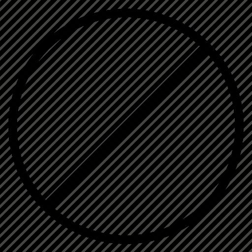 ban, cancel, prohibition icon