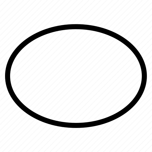 ellipse, shape icon