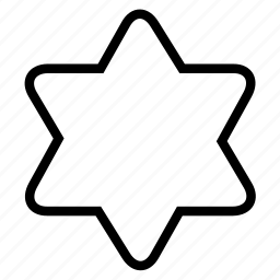 david star, hexagonal, shape icon