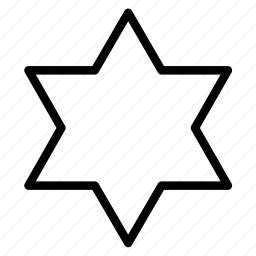 david star, hexagonal, shape, star icon