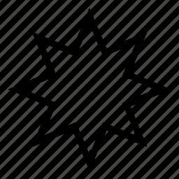 octagonal, shape, star icon
