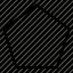 pentagon, shape icon