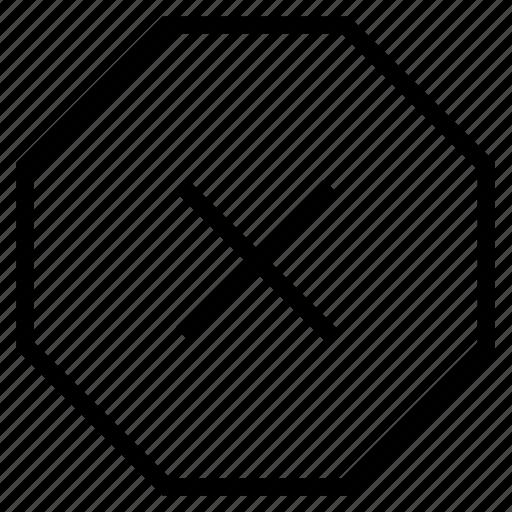 close, stop icon