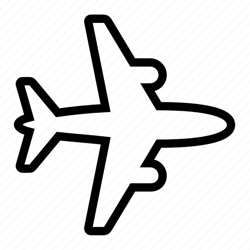 airliner, fly icon
