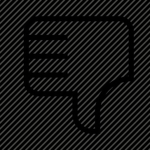 dislike, no, vote icon