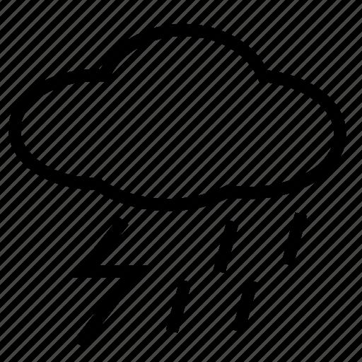 lightning, rain, thunder, thunderstorms icon