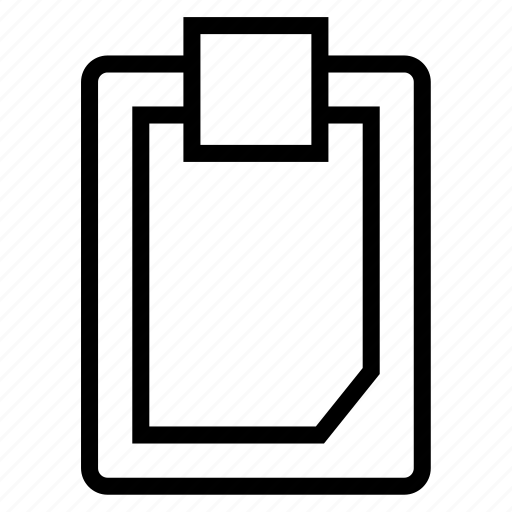 clipboard, tablet icon
