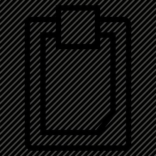 clipboard, tablet icon