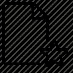a4, document, favorite, file, paper icon