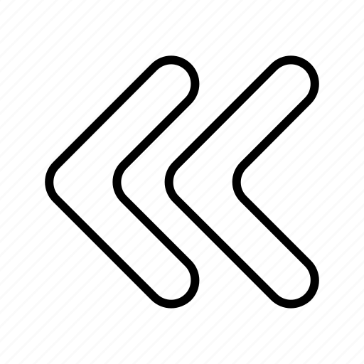 control, double arrow, left arrow, previous, rewind icon