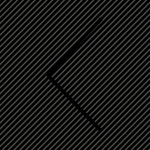 Control, left arrow, previous, rewind icon