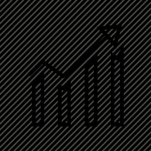 bar chart, bar graph, dashboard, marketing, report, statistics icon