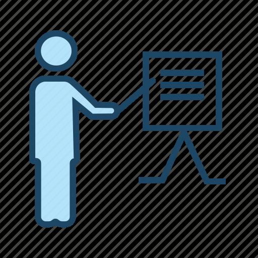 demo, instructor, online course, teacher, tutor icon