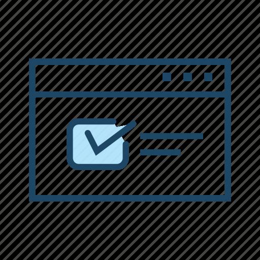 Elearning, online exam, online learning, online test, quiz, website icon - Download on Iconfinder