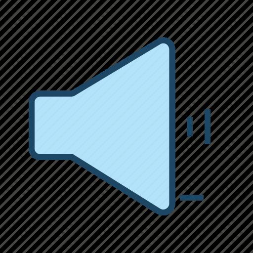 control, decrease sound, decrease volume, lower volume, speaker volume, volume down icon
