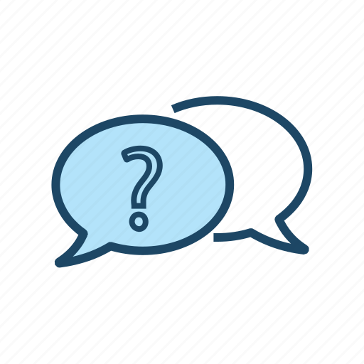 chat support, clarifications, conversation, doubts, help, q&a, question and answer icon