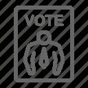 voting, campaign, vote, politics, election, ballot, politic