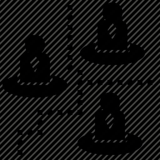 area, border, boundary, district, township icon