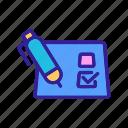 check, checklist, choice, contour, elections, list, questionnaire