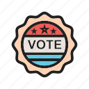 choice, label, sign, stamp, sticker, vote, voting icon