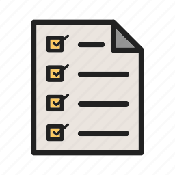 ballot, box, checklist, fill, mark, paper, survey icon