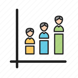 demographic, opinion, percent, poll, population, portion icon