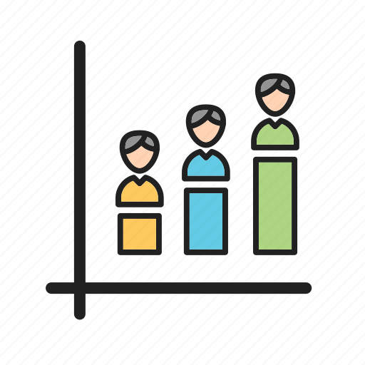 Demographic, percent, portion, opinion, poll, population icon