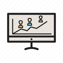 bar, chart, election, graph, online, success, tablet icon