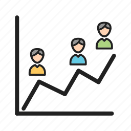 graph, percent, poll, population, portion, results icon