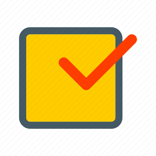 ballot, box, checklist, mark, paper, survey icon