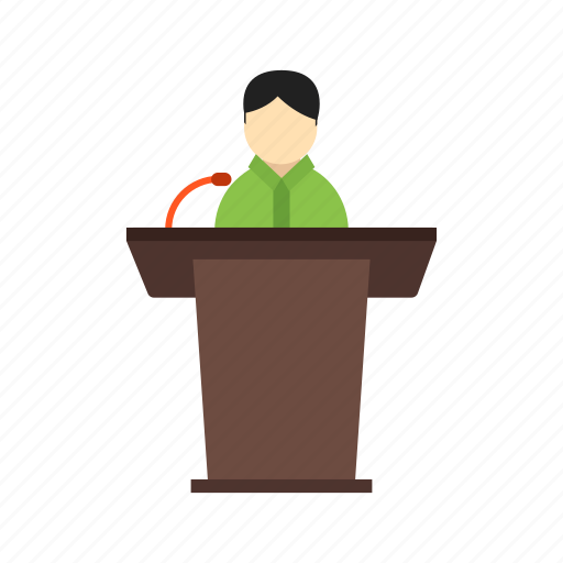 Elections, meeting, people, president, seminar, speaker icon - Download on Iconfinder