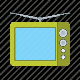 broadcasting, debate, results, studio, television, tv, video icon