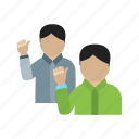 crowd, event, group, people, politics, speech, waving icon