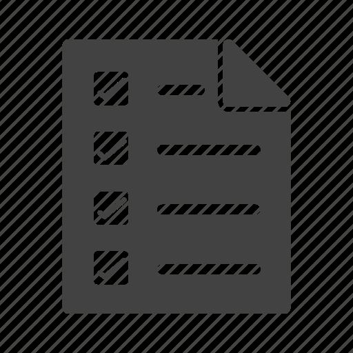 ballot, box, checklist, fill, mark, paper, survey icon
