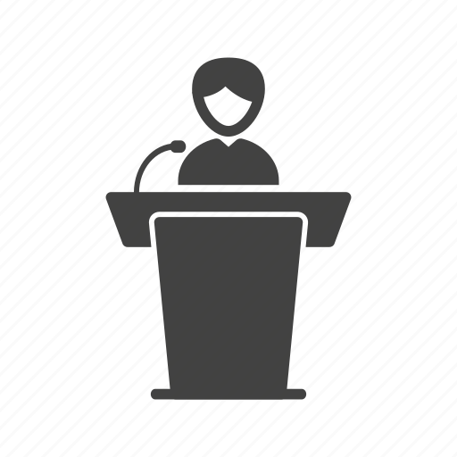 elections, meeting, people, president, seminar, speaker icon