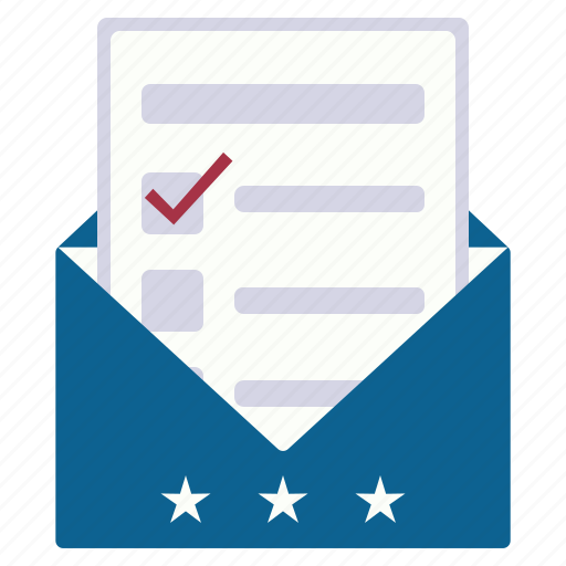 choice, elections, envelope, form, vote icon