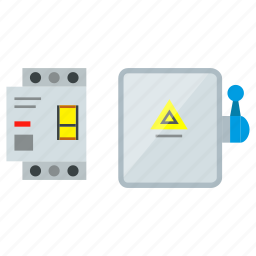 breaker, cutout, electric, electric contactor, high-voltage, initiator, instrument, relay icon