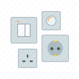 electric, electrical outlets, high-voltage, instrument, switches icon