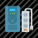 electric, extension lead, instrument, outlet, uninterruptible power system, ups, voltage