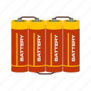 batteries, battery, cell, coin, lithium, metal, round icon
