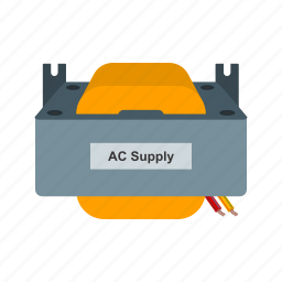 ac, cable, charging, electrical, plug, power, wave icon