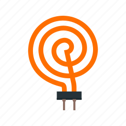coils, electric, element, heated, heater, heating, water icon