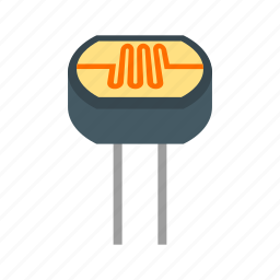 circuit, electrical, electronic, equipment, light, resistor, technology icon