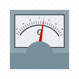 device, electric, galvanometer, measure, science, scientific icon