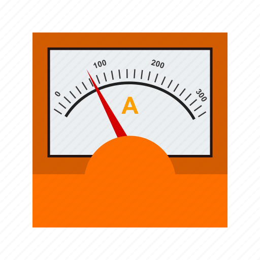 ammeter, ampere, electrician, electricity, meter, voltage, voltmeter icon