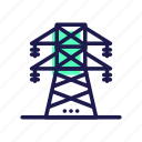 electric, tower, transmission icon